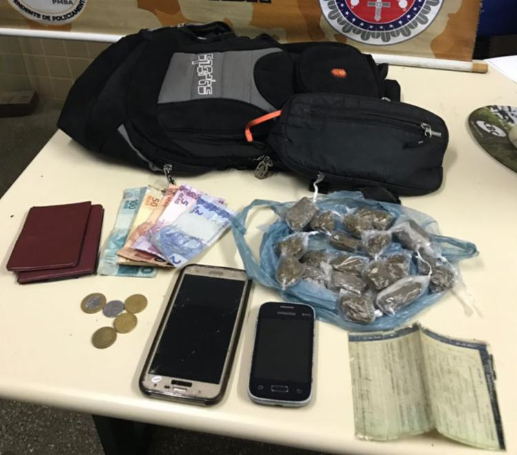 Material foi encontrado com os suspeitos - Foto: Divulgação | SSP