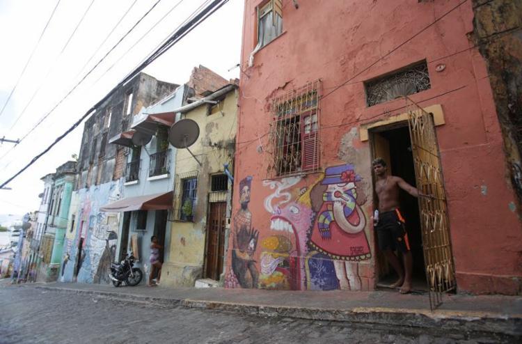 Casarão nº 38 na ladeira da Preguiça tem dois andares - Foto: Raul Spinassé l Ag. A TARDE