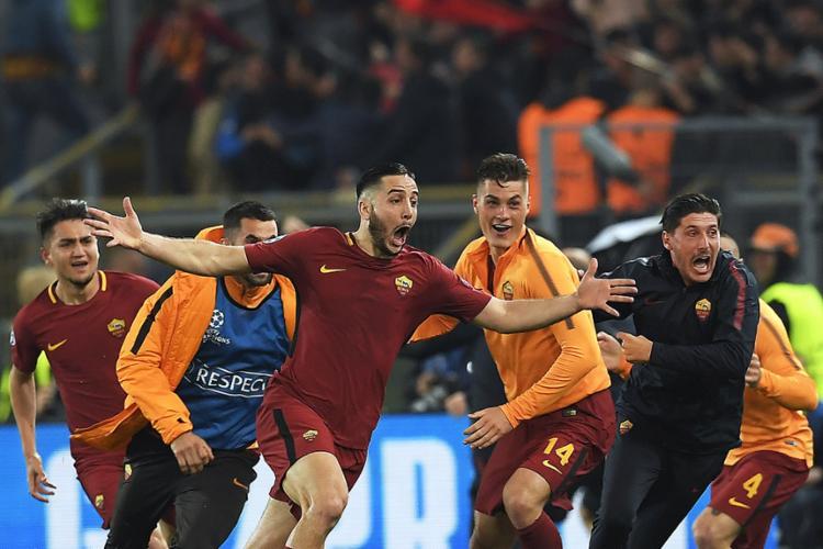 Italianos revertem o resultado negativo de 4 a 1, na Espanha, e vão brigar por vaga na final da Liga dos Campeões - Foto: Lluis Gene l AFP