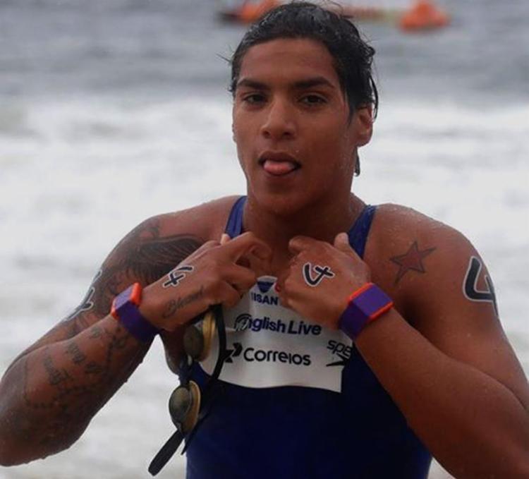 A atleta do Unisanta bateu em segundo lugar com o tempo de 16min43s72 - Foto: Reprodução l Instagram