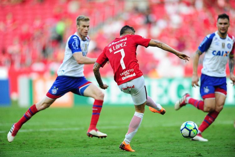 Nico López saiu do banco para marcar os dois gols do Colorado no Beira Rio - Foto: Ricardo Duarte l Internacional
