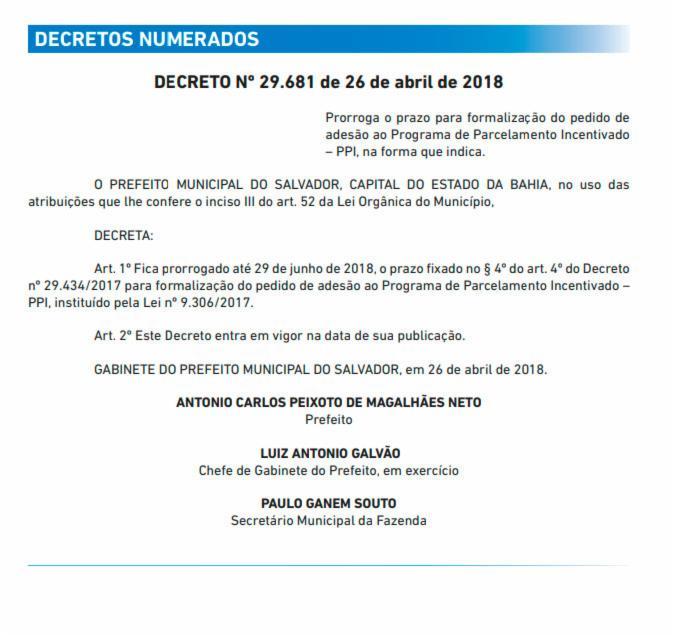 Decreto 29.681/2018: