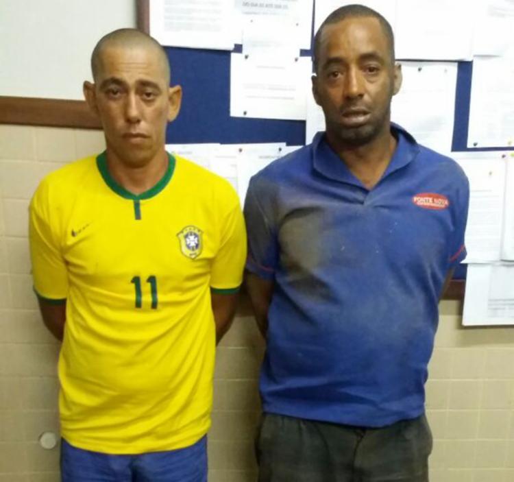 Reginaldo Eduardo da Silva e Ronaldo da Silva Lopes foram presos em flagrante - Foto: Divulgação | SSP