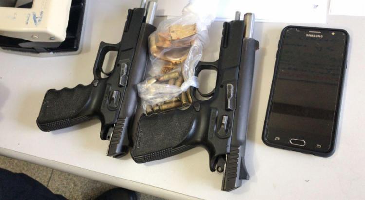 Pistolas são de uso restrito das Forças Armadas e da Polícia Federal - Foto: Divulgação | SSP