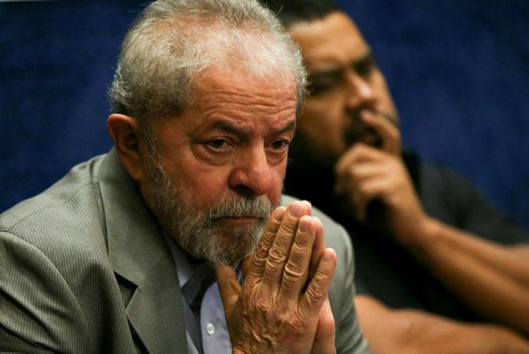 Ex-presidente acompanha julgamento na sede do Sindicato dos Metalúrgicos do ABC - Foto: Marcelo Camargo | Agência Brasil | Divulgação