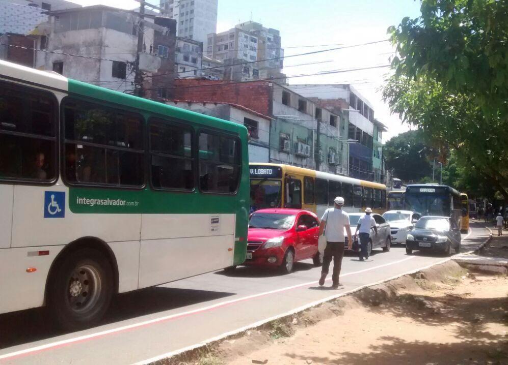 Protesto afeta o trânsito no Centro da cidade