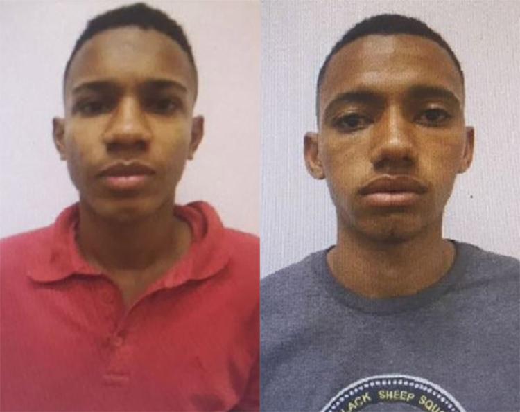 Raul (à esq.) foi preso logo após o roubo de um Renault Logan; Paulo também foi deixado pra trás pelos dois que conseguiram fugir - Foto: Divulgação l Polícia Civil