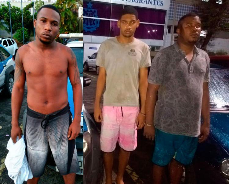 Suspeitos foram levados para a Central de Flagrantes, na avenida ACM - Foto: Divulgação | SSP-BA