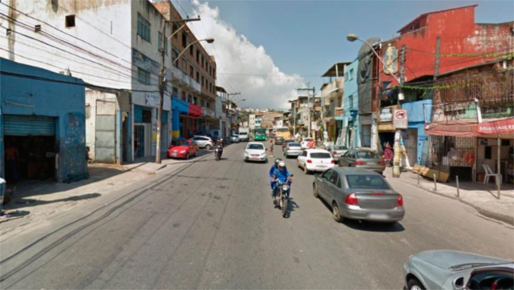 Vazamento acontece perto da entrada do Curuzu, na avenida San Martin - Foto: Reprodução   Google Maps
