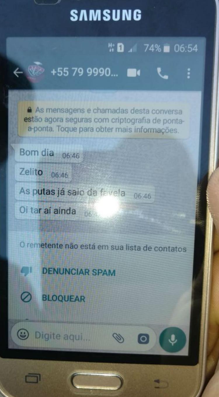 Celular que mostra conversa em Joselito e outro suspeito