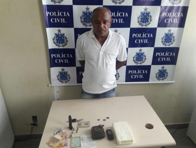 Ele seria responsável pelo transporte de drogas de Salvador para a cidade do interior - Foto: Divulgação | Polícia Civil