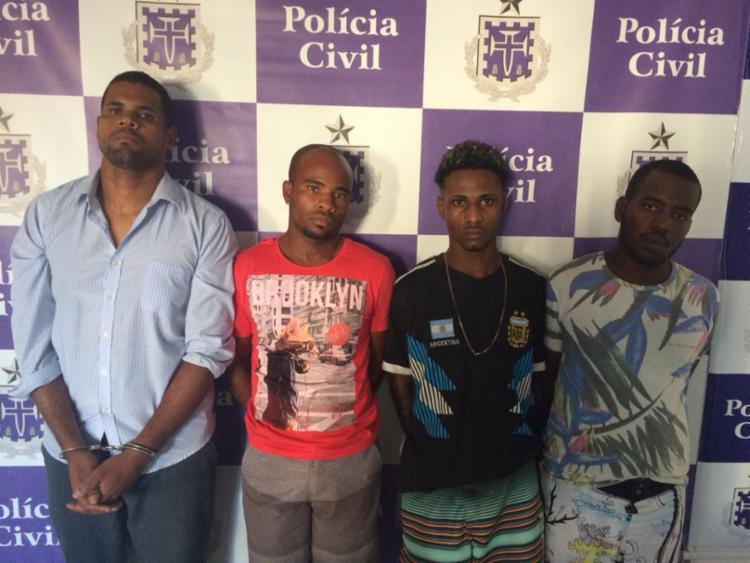 Jonatha, José, Josevan e Erissinaldo prestaram depoimentos e seguirão para o sistema prisional - Foto: Divulgação | Polícia Civil