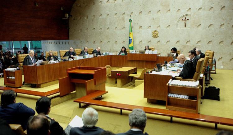 Após mais de 10 horas de julgamento, Cármen Lúcia desempatou e placar ficou em 6 a 5 contra o pedido do ex-presidente - Foto: Carlos Moura l SCO l STF