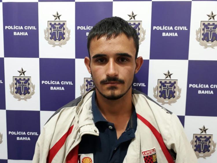 Luiz Fernando tinha mandado de prisão em aberto e estava escondido em imóvel - Foto: Divulgação | Polícia Civil
