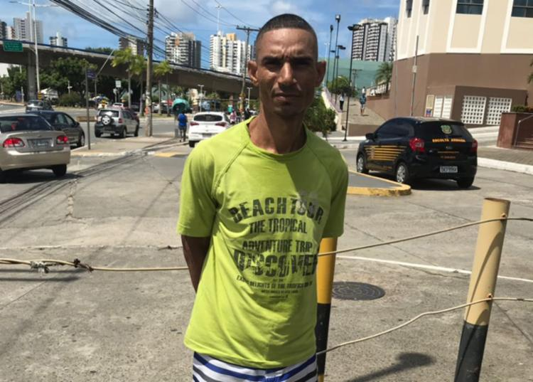 Rodinei de Jesus foi levado para a Central de Flagrantes, na avenida ACM - Foto: Divulgação | SSP
