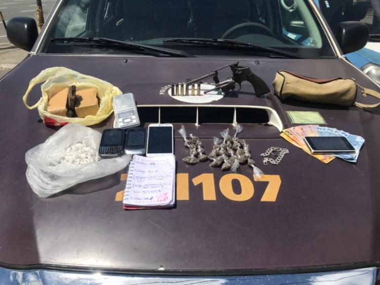 Material foi encontrado na mochila do suspeito (Foto: Divulgação | SSP)
