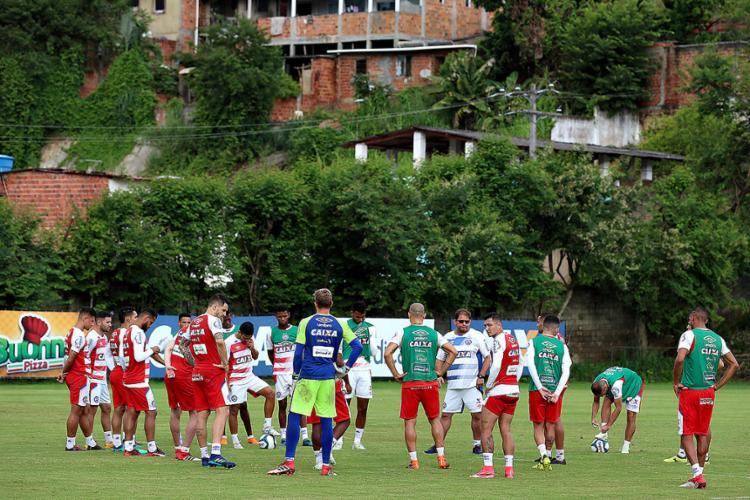 Elenco Tricolor participou de uma atividade tática nesta terça-feira, 24, no Fazendão - Foto: Felipe Oliveira l EC Bahia