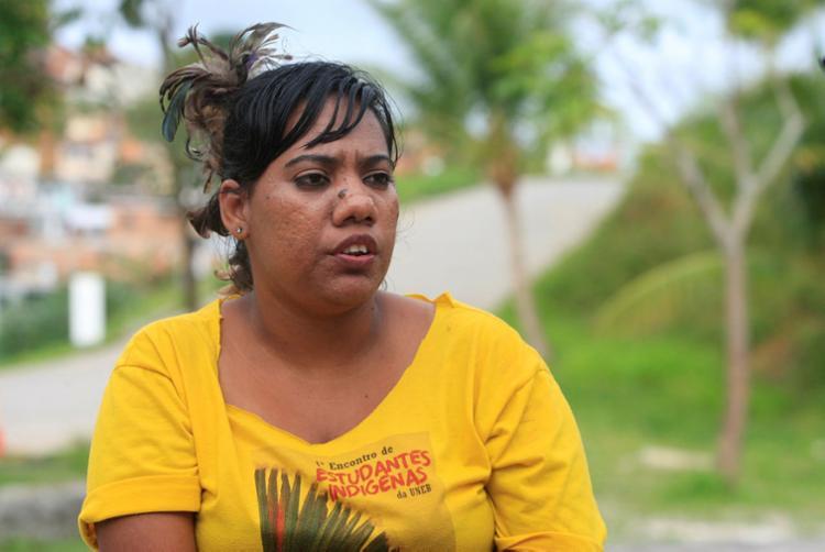 Valéria Truká, da Ilha de Assunção, no município de Cabrobó (PE), estudante de nutrição - Foto: Alessandra Lori   Ag. A TARDE
