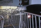 Motorista perde controle de carro e invade bilheteria da Fonte Nova | Foto: Reprodução | TV Record