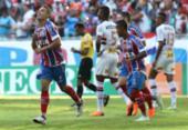 Bahia perde chances claras, leva gol no fim e empata com o São Paulo | Foto: Adilton Venegeroles | Ag. A TARDE