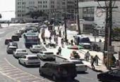Manifestação causa engarrafamento na Sete de Setembro | Foto: Divulgação | Transalvador