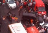 Duas pessoas ficam feridas após atropelamento na Sete Portas | Foto: Cidadão Repórter | Via WhatsApp