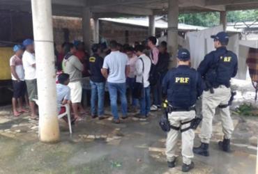 Lavradores são resgatados de trabalho escravo em Porto Seguro | Divulgação | PRF
