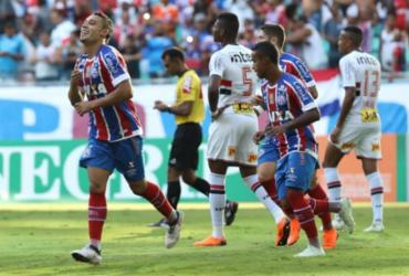 Bahia perde chances claras, leva gol no fim e empata com o São Paulo | Adilton Venegeroles | Ag. A TARDE
