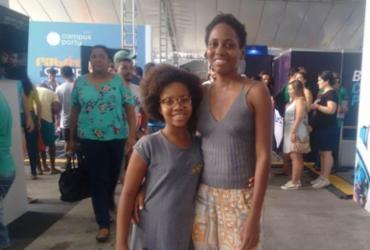Mãe e filha trocam experiências em evento tecnológico | Lorena Souza