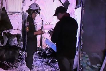 Incêndio destrói churrascaria em Brotas   Reprodução   TV Bahia