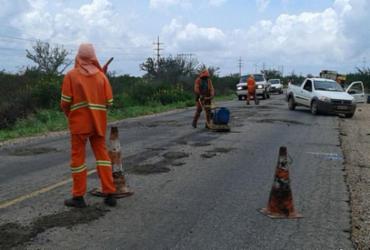 Serviços de manutenção na rodovia que liga Juazeiro a Sobradinho estão sendo executados