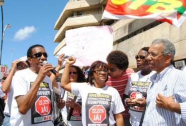 Educadores da rede estadual realizam protesto no CAB   Divulgação   APLB-Sindicato