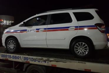 Suspeitos de roubar táxi morrem em troca de tiros com a polícia   Divulgação   SSP-BA