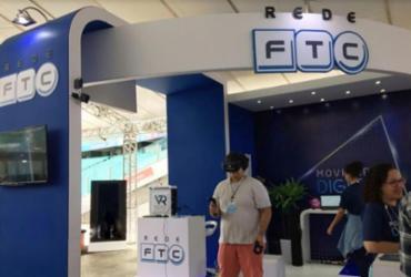 Visitantes interagem com realidade virtual em stand da Campus Party | Divulgação| FTC