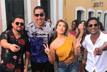 Harmonia gravou novo clipe com Lore Improta, Xand e Luís Miranda | Reprodução | Instagram