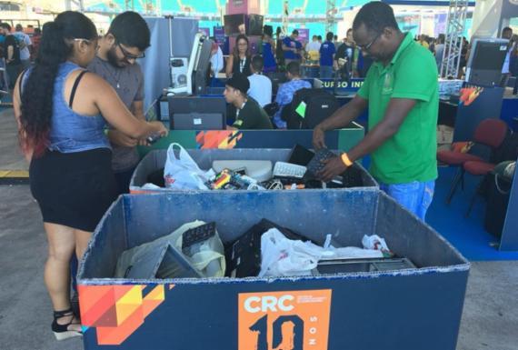 Doação de lixos eletrônicos ganha espaço na CPBA | Edielle Carvalho l Ag. A Tarde