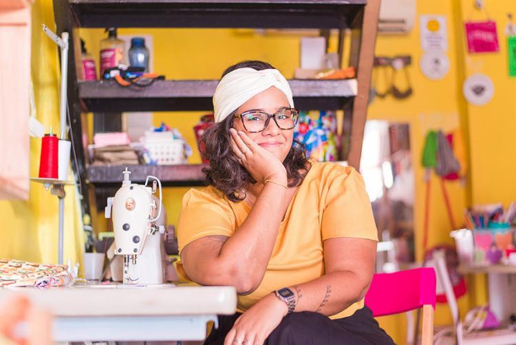 Isadora, da loja Com Amor, Dora, realizou capacitações voltadas para vendas e gestão no evento