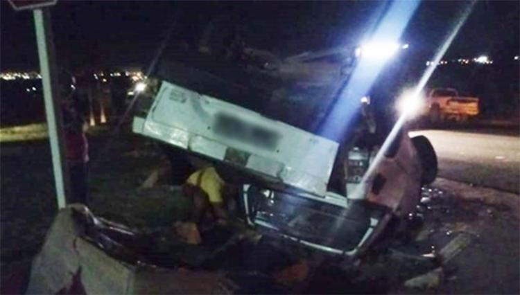Ningúém ficou ferido no acidente na BR-135 - Foto: Reprodução | Blog do Braga