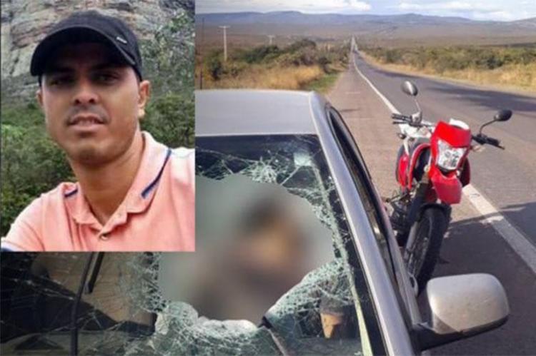 Peça atravessou para-brisa do carro e matou comerciante - Foto: Reprodução | Blog do Marcelo
