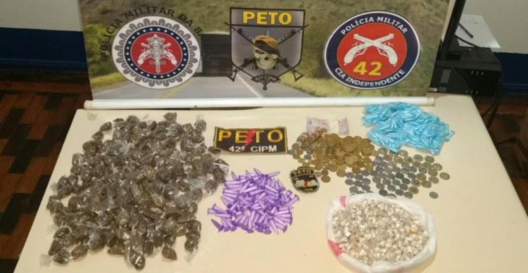 Droga como maconha e cocaína foi apreendida pela polícia - Foto: Divulgação | SSP-BA