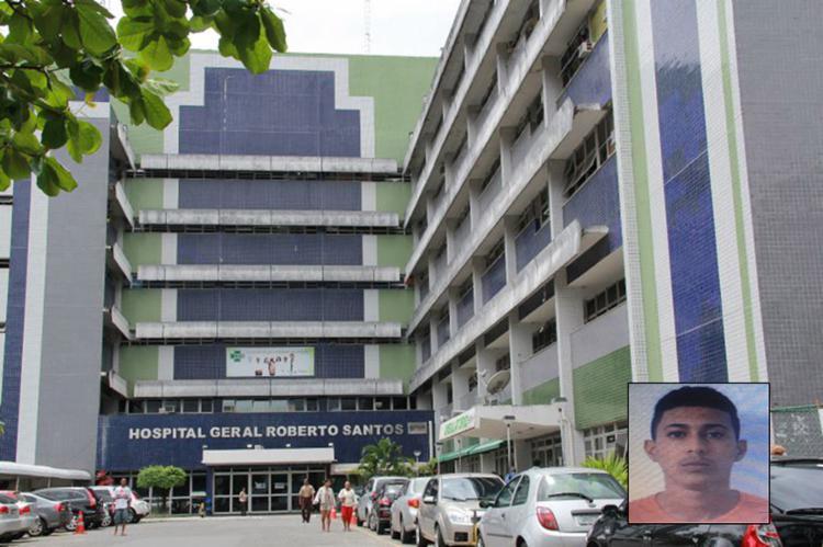 Baleado, Alan foi internado no Hospital Roberto Santos, no Cabula, mas não resistiu - Foto: Joá Souza l Ag. A TARDE