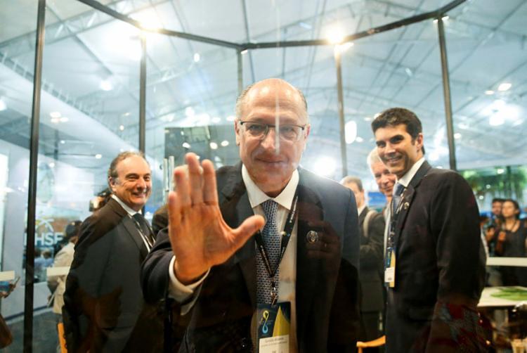Alckmin, a esperança dos tucanos, até agora não decolou - Foto: Marcelo Camargo | Agência Brasil | 20.3.2018