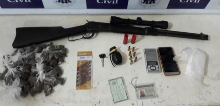 O suspeito admitiu fazer parte de quadrilha de tráfico de drogas, segundo a polícia - Foto: Divulgação | SSP-BA