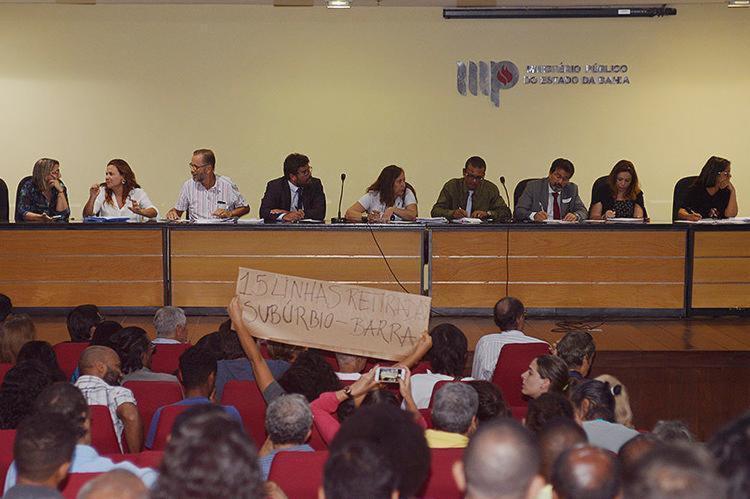 Audiência pública lotou auditório da sede do Ministério Público da Bahia, em Nazaré - Foto: Shirley Stolze l Ag. A TARDE