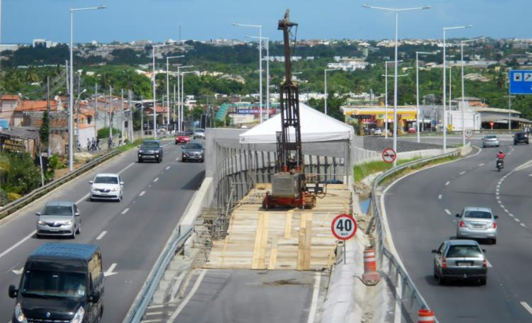 Concessionária Bahia Norte realiza obras na altura do km 8,5 da rodovia - Foto: Divulgação