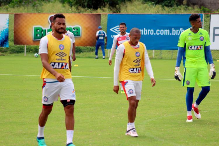 Jogadores fizeram um treino regenerativo no Fazendão - Foto: Felipe Oliveira | EC Bahia