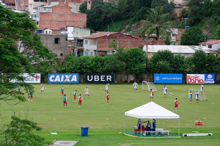 Elenco do Tricolor teve folga e inicia as atividades na tarde desta terça, 15, no Fazendão - Foto: Felipe Oliveira l EC Bahia