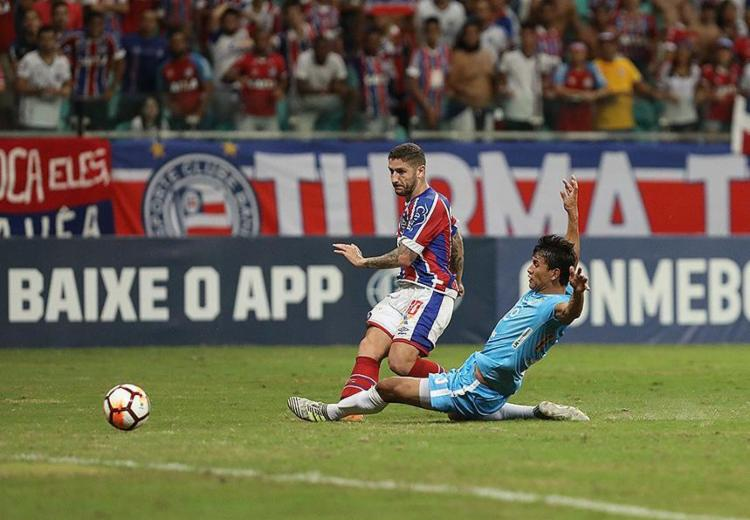 Zé Rafael foi o destaque do Tricolor ao marcar dois gols na partida - Foto: Adilton Venegeroles l Ag. A TARDE