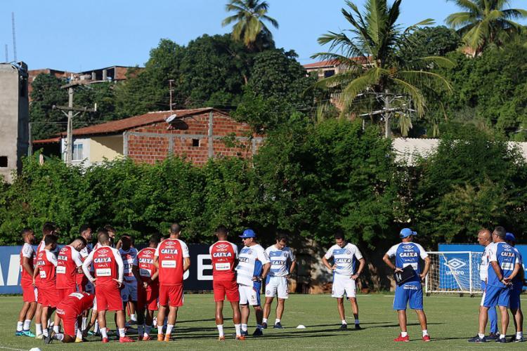 Embalado após a goleada em cima do Blooming pela Sul-Americana, Esquadrão tem chance de se recuperar na tabela - Foto: Felipe Oliveira l EC Bahia