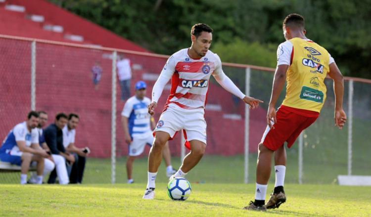 Elenco do Tricolor fez nesta sábado, 5, o último treinamento antes da viagem para Recife - Foto: Divulgação l EC Bahia